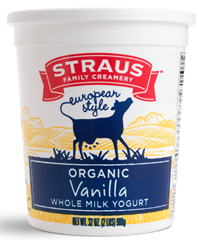 Straus Family Creamery Whole Milk Vanilla Yogurt